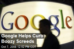 Google Helps Curb Boozy Screeds