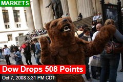 Dow Drops 508 Points