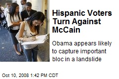 Hispanic Voters Turn Against McCain