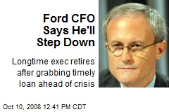 Ford CFO Says He'll Step Down