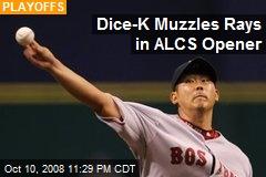 Dice-K Muzzles Rays in ALCS Opener