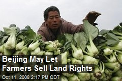 Beijing May Let Farmers Sell Land Rights