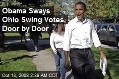 Obama Sways Ohio Swing Votes, Door by Door