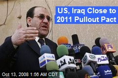 US, Iraq Close to 2011 Pullout Pact