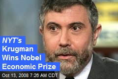 NYT's Krugman Wins Nobel Economic Prize