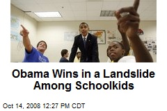Obama Wins in a Landslide Among Schoolkids