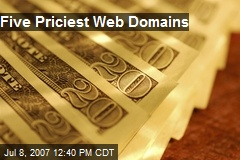 Five Priciest Web Domains
