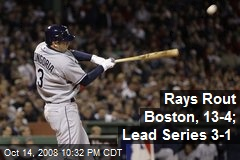 Rays Rout Boston, 13-4; Lead Series 3-1