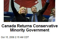 Canada Returns Conservative Minority Government