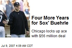 Four More Years for Sox' Buehrle