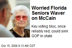 Worried Florida Seniors Waver on McCain