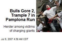 Bulls Gore 2, Trample 7 in Pamplona Run