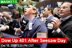 Dow Up 401 After Seesaw Day