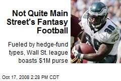 Not Quite Main Street's Fantasy Football