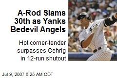 A-Rod Slams 30th as Yanks Bedevil Angels