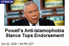 Powell's Anti-Islamophobia Stance Tops Endorsement