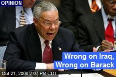 Wrong on Iraq, Wrong on Barack