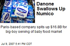 Danone Swallows Up Numico
