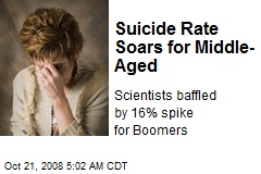 Suicide Rate Soars for Middle-Aged