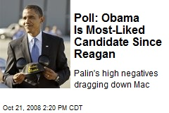 Poll: Obama Is Most-Liked Candidate Since Reagan