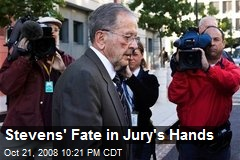 Stevens' Fate in Jury's Hands