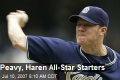 Peavy, Haren All-Star Starters