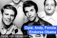 Opie, Andy, Fonzie Endorse Obama