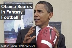 Obama Scores in Fantasy Football