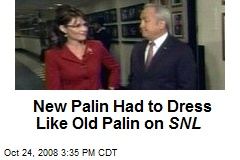 New Palin Had to Dress Like Old Palin on SNL