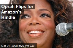 Oprah Flips for Amazon's Kindle