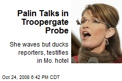 Palin Talks in Troopergate Probe
