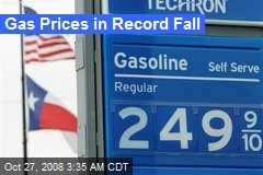 Gas Prices in Record Fall