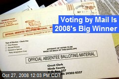 Voting by Mail Is 2008's Big Winner