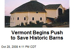 Vermont Begins Push to Save Historic Barns
