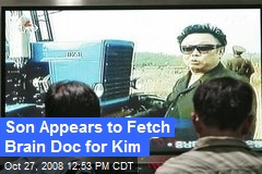 Son Appears to Fetch Brain Doc for Kim
