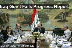 Iraq Gov't Fails Progress Report