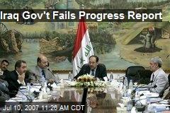 Iraq Gov't Fails Progress Report