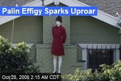 Palin Effigy Sparks Uproar
