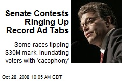 Senate Contests Ringing Up Record Ad Tabs