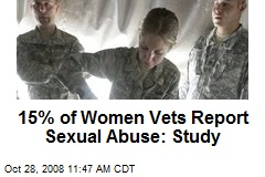 15% of Women Vets Report Sexual Abuse: Study