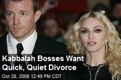 Kabbalah Bosses Want Quick, Quiet Divorce