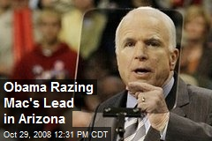 Obama Razing Mac's Lead in Arizona