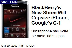 BlackBerry's New Storm Will Capsize iPhone, Google's G-1