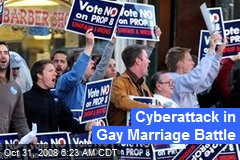 Cyberattack in Gay Marriage Battle