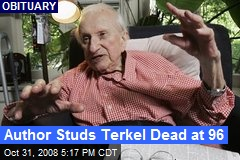 Author Studs Terkel Dead at 96