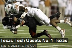 Texas Tech Upsets No. 1 Texas