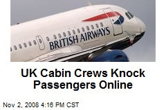 UK Cabin Crews Knock Passengers Online