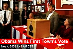 Obama Wins First Town's Vote