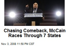 Chasing Comeback, McCain Races Through 7 States