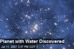 Planet with Water Discovered